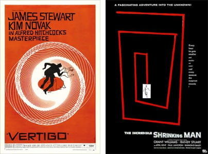 "Filmplakate von ""Vertigo"" und ""The Incredible Shrinking Man"""
