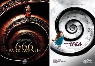 """Plakate zu """"666 Park Avenue"""" und """"Being Erica"""""""