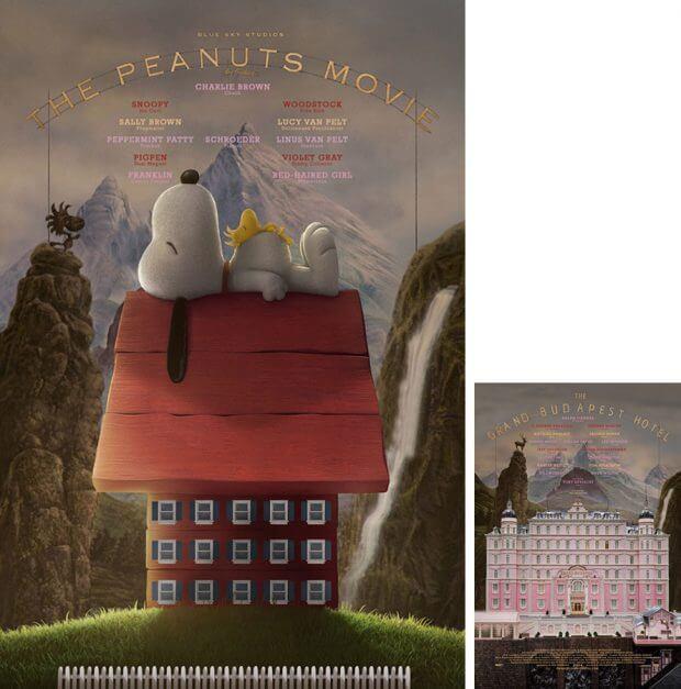 "Die Peanuts vs. ""Grand Budapest Hotel"""