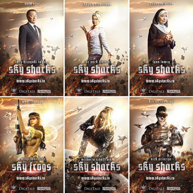"Filmplakate zu ""Sky Sharks"""
