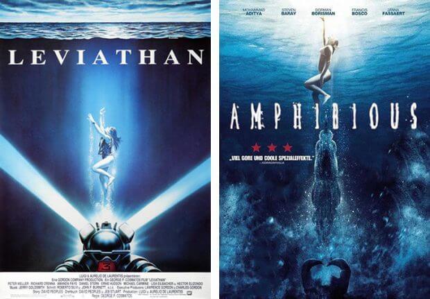 """Filmplakate von """"Leviathan"""" und """"Amphibious"""""""