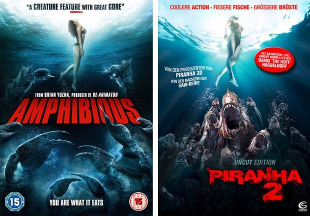 """Amphibious"" vs. ""Piranha 2"""