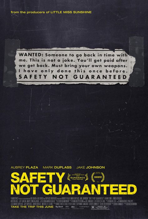 "Filmplakat zu ""Safety Not Guaranteed"""