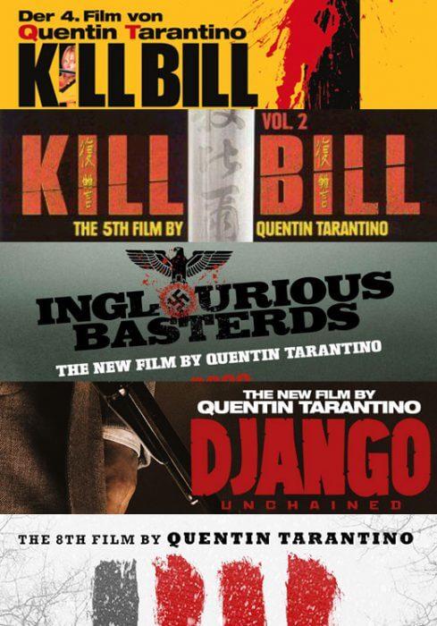 Tarantino auf seinen Plakaten