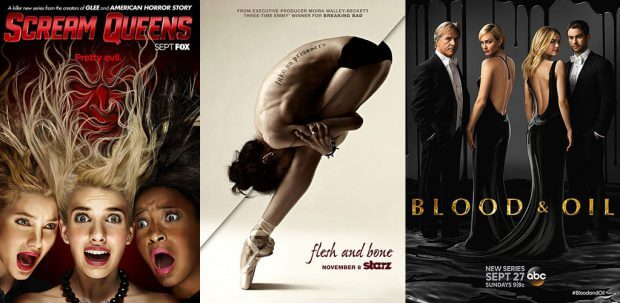 """Scream Queens"", ""Flesh and Bone"" und ""Blood & Oil"""