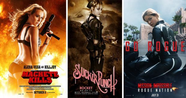 "Poster zu ""Machete Kills"", ""Sucker Punch"" und ""Mission: Impossible - Rogue Nation"""