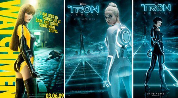 """Poster zu n """"Watchmen - Die Wächter"""" und """"Tron Legacy"""""""