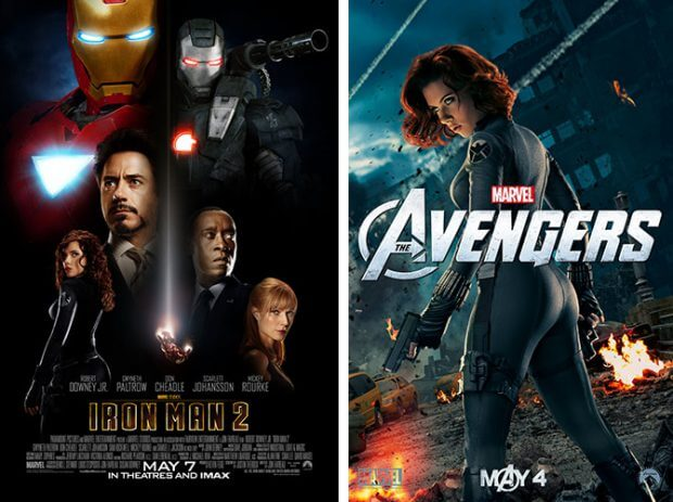 "Die Black Widow bei ""Iron Man 2"" und ""The Avengers"""
