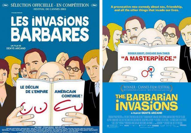 """Filmplakate zu """"Die Invasion der Barbaren"""""""