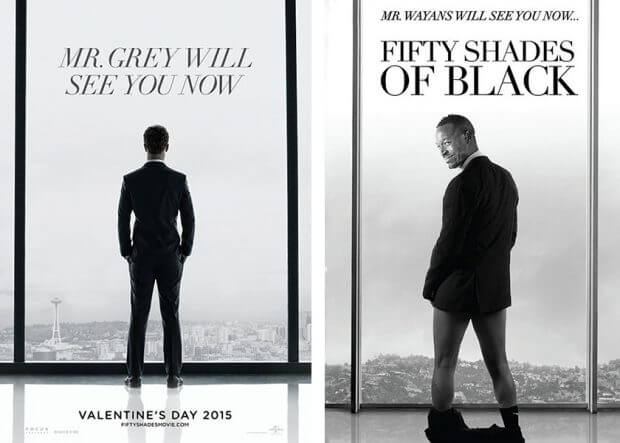 """Fifty Shades of Grey"" vs. ""Fifty Shades of Black"""