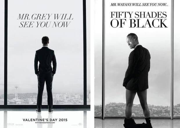 """Fifty Shades of Grey"" vs. ""Fifty Shades of Black"""