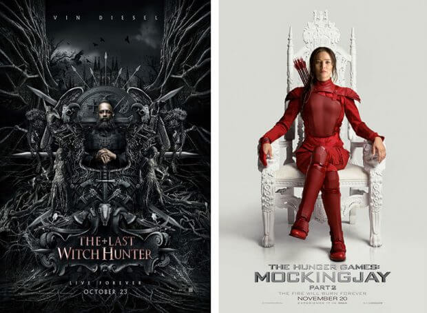 """The Last Witch Hunter"" und ""Die Tribute von Panem - Mockingjay Teil 2"""