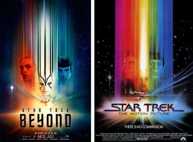 """Filmplakate zu """"Star Trek Beyond""""und """"Star Trek: Der Film"""""""