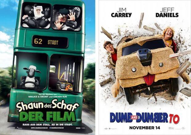 """""""Shaun das Schaf - Der Film"""" und """"Dumm und Dümmehr"""""""