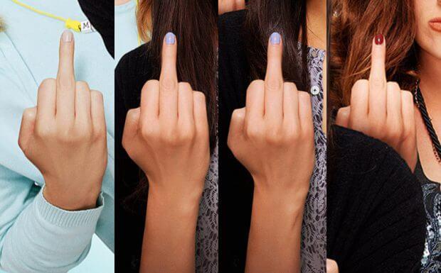 4 x der gleiche Finger