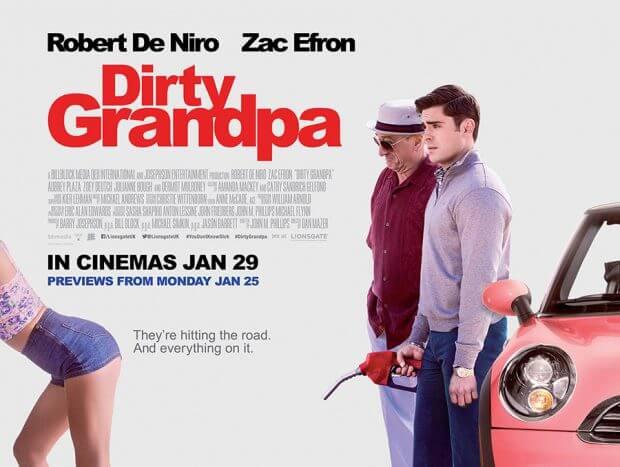 """Filmplakat von """"Dirty Grandpa"""""""