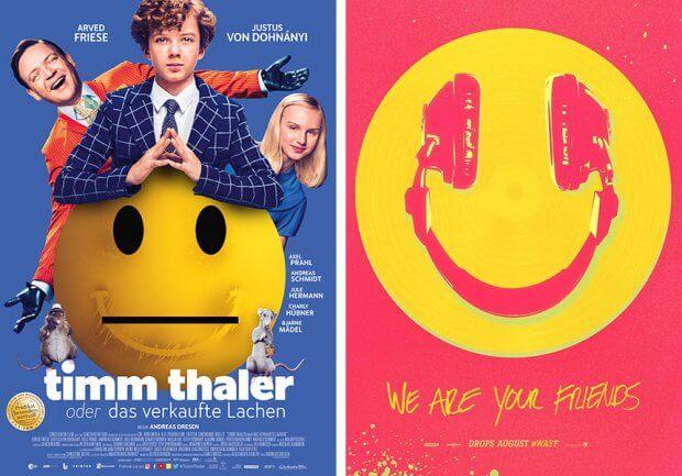 """Filmplakate zu """"Timm Thaler oder das verkaufte Lachen"""" und """"We Are Your Friends"""""""