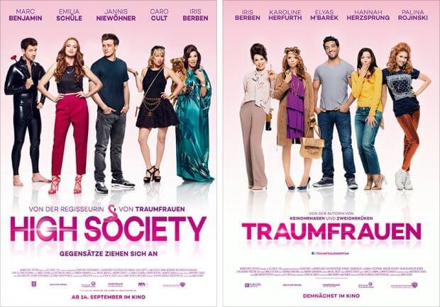 """Filmplakate zu """"High Society"""" und """"Traumfrauen"""""""