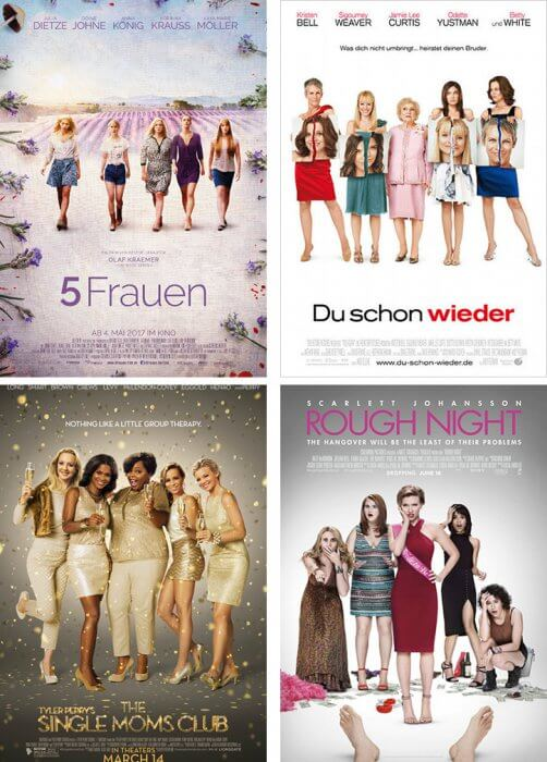 """5 Frauen"", ""Du schon wieder"", ""The Single Moms Club"" und ""Girls Night Out"""