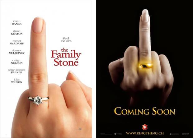 """Filmplakate zu """"Die Familie Stone - Verloben verboten!"""" und """"The Ring Thing"""""""