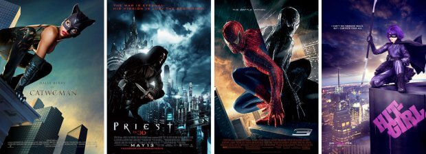 """Catwoman"", ""Priest"", ""Spider-Man 3"" oder ""Kick-Ass"""