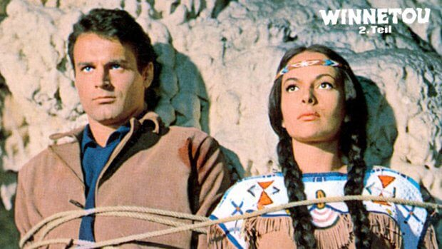 "Terence Hill und Karin Dor in ""Winnetou - 2. Teil"""