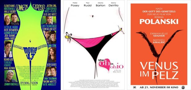 "Filmplakate zu ""Movie 43"", ""The Oh in Ohio"" und ""Venus im Pelz"""