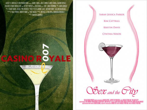 "Fan Poster zu ""Casino Royale"" und ""Sex and the City"""