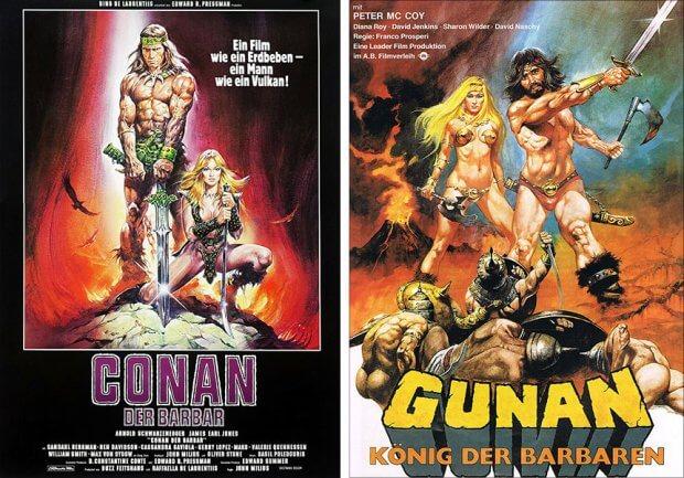 """""""Conan - Der Barbar"""" und """"Gunan - König der Barbaren"""""""